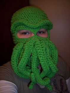 Cthulhu Ski Mask - CROCHET @Jenn Marshall , how much to make something like this? (for Jacob)