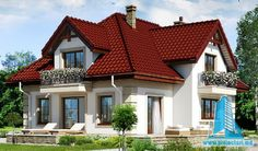 Картинки по запросу proiecte case md Beautiful House Plans, Beautiful Homes, Style At Home, Cottage Style House Plans, Small Space Living, Kit Homes, My Dream Home, Exterior Design, My House