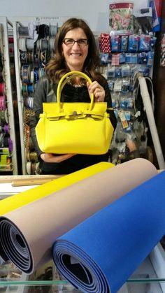 La Borsa in Neoprene - Anna Borrelli Jane Birkin, Tissu Neoprene, Diy Sac, O Bag, Unique Purses, Bag Patterns To Sew, Everyday Bag, Leather Craft, Bag Making
