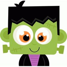 Frankenstein SVG scrapbook cut file cute clipart files for silhouette cricut pazzles free svgs free svg cuts cute cut files Halloween Rocks, Halloween Images, Cute Halloween, Holidays Halloween, Halloween Crafts, Halloween Decorations, Halloween Signs, Moldes Halloween, Adornos Halloween