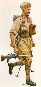 Sepoy, Indian Army 1944, pin by Paolo Marzioli