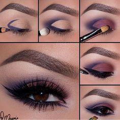 Maquiagem com olhos castanhos