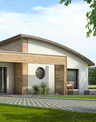 Maison contemporaine avec toiture cintrée