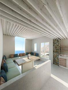 greecian island homes   Modern Greek island home or hotel villa
