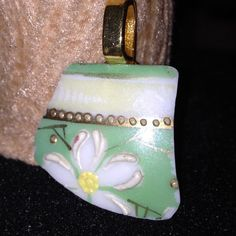 Floral Up-cycled Porcelain Pendent by BeccasjamsandCrafts on Etsy