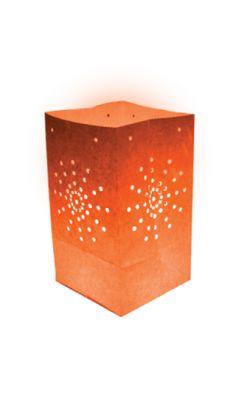 10 Lanternes de Jardin Maya Orange