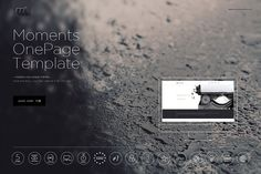 Moments - One Page Template by mesmeriseme.themes on @creativemarket