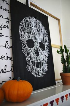halloween decoration 19 diy string art projects 16 easy but awesome homemade halloween decorations with photo tutorials halloween hacks and diy ideas how - Halloween Diy Projects