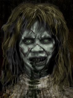 the exorcist by on DeviantArt Terrifying Horror Movies, Horror Films, Scary Movies, Horror Art, Great Movies, Vampires, Monster Squad, Dark Blood, Classic Horror Movies