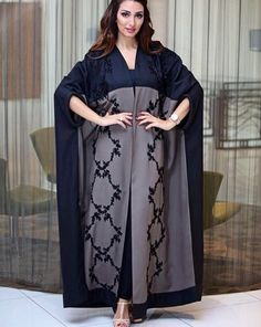 Arab Fashion, Muslim Fashion, Modest Fashion, Fashion Dresses, Womens Fashion, Orientation Outfit, Modern Abaya, Black Abaya, Abaya Designs