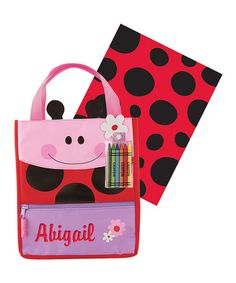 Another great find on #zulily! Ladybug Personalized Art Tote Set #zulilyfinds