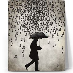 Music notes in the rain. I love to hear what tune it plays when it hits the umbrella. All About Music, Singing In The Rain, Art Plastique, Music Quotes, Film Quotes, Piano Quotes, Music Lovers, Belle Photo, Music Is Life