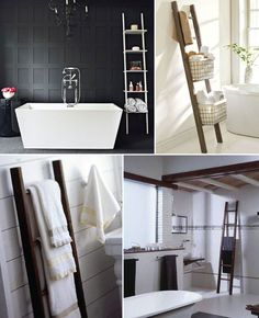 Winsome Modern Bathroom Ideas With Decorative Towels For And Wooden White Towel Ladder Rack Flip Pinterest