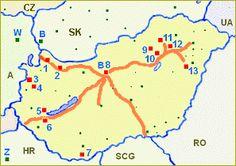 mapka dálnic a termálních lázní 9 And 10, Budapest, Art, Art Background, Kunst, Performing Arts, Art Education Resources, Artworks