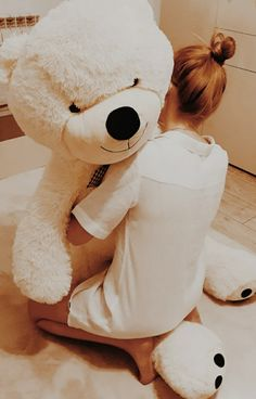 teddy bear, bear, surprise, gift, boyfriend, sweetheart Giant Teddy Bear, Cute Teddy Bears, Teddy Bear Gifts, Aesthetic Girl, Boyfriend Gifts, Tumblr, Hug, Cartoon, Couples