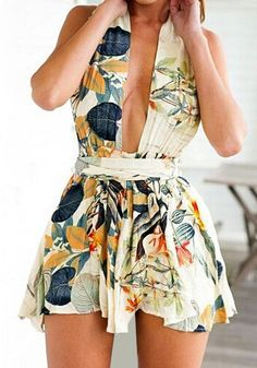Pastoral Print Magic Dress