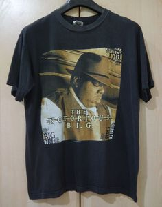 vintage 90s 1997 THE NOTORIOUS B.I.G We Miss You BIG Poppa GANGSTA RAP t-shirt  #ThePlanetInc #GraphicTee
