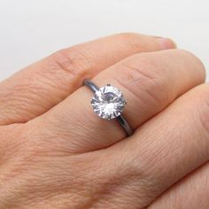 Hey, I found this really awesome Etsy listing at https://www.etsy.com/listing/227072040/gothic-engagement-ring-2ct-pure-white
