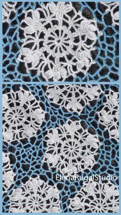 Crochet Flower Patterns, Crochet Flowers, Irish Lace, Flower Tutorial, Irish Crochet, Flower Making, Crochet Hooks, Simple Designs, Needlework
