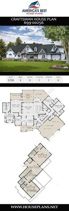 Get a load of this superb Craftsman home design Plan details 3730 sq ft 3 bedrooms 3 bathrooms a media room a mudroom an ex Get … – Mudroom Best House Plans, Dream House Plans, Small House Plans, House Floor Plans, The Sims, The Plan, How To Plan, House Blueprints, Craftsman House Plans