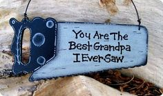 grandpa gifts Best Grandpa Ornament by CountryCharmers on Etsy Xmas Gifts, Craft Gifts, Cute Gifts, Diy Gifts, Awesome Gifts, Holiday Crafts, Fun Crafts, Christmas Crafts, Crafts For Kids