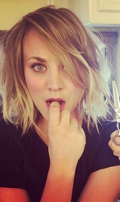 Kaley Cuoco short ombre hair...absolutely LOVE!! ♡