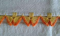 ◇ ◆ ◇ ☆ Tecidos e Croche = Pano de Prato ☆ - / ◇ ◆ ◇ ☆ Fabric & Croche = dish cloth ☆ - Mais Crochet Boarders, Crochet Edging Patterns, Crochet Lace Edging, Crochet Motifs, Crochet Trim, Crochet Designs, Crochet Flowers, Crochet Stitches, Picot Crochet