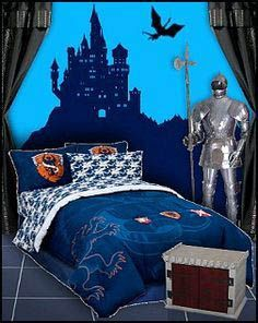 medieval knights dragons bedrooms - castle decorating - castle beds - castle furniture - Prince Crown Royal Theme - medieval castle furniture - Little prince nursery decorating - little prince crib bedding - knights and dragons murals - wizard bedroom th Black Bedroom Sets, Bedroom Red, Baby Bedroom, Dream Bedroom, Medieval Bedroom, Gothic Bedroom, Fairytale Bedroom, Castle Bedroom, Prince Nursery