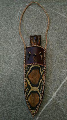 Osso stabilizato di zebra,damasco russo da zlatoust,pietra rubino in zoist,pelle di pitone