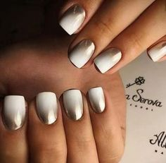 aspro metalize konta nixia omber summer nails black white
