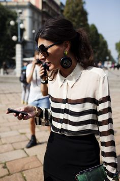 Giovanna: black & white stripes