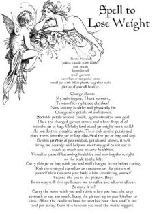 Spell for Weight Loss Real Wicca Book of Shadows pages Pagan Occult Ritual picclick.com by Jinx62