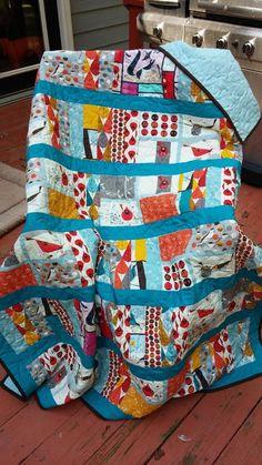 Charley Harper Birch Quilt for Mom | sparklycorner