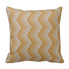 Geometric ZigZag Throw Pillow in Muted Oranges