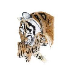 Mom and Baby Tiger Print, Jungle Animal Nursery Art, Tiger Watercolor, Jungle Nursery Decor, Tiger W Tiger Drawing, Tiger Art, Baby Drawing, Animal Nursery, Jungle Nursery, Nursery Art, Nursery Decor, Jungle Animals, Baby Animals