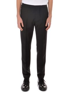 Acne Studios - Spring Summer 2015 - Menswear // Black Ryder Dressed Up Trousers With Elastic Waistband