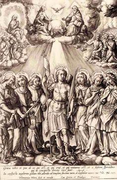 I SANTI SETTE ARCANGELI Michael Angel, Archangel Michael, St Michael, Catholic Tattoos, Religious Tattoos, Angels Among Us, Angels And Demons, Religious Paintings, Religious Art