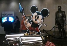 The Mickey Fickey Mouse of the hour - a Mickey standee. Should have asked for one for the Man Space lol. At the Texas State History Museum in Austin.