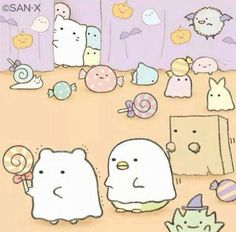 nadeshikocha:  cute sumikko gurashi for halloween <3