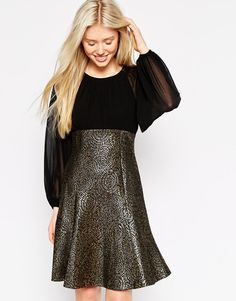 Image 1 of Traffic People Firework Encore Metallic Dress
