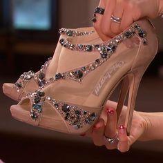 Shoespie Peep-toe Reticular Chromatic Stiletto Heels