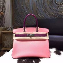 Hermes Horseshoe Birkin 30cm Epsom Calfskin Bag Handstitched, Rose Confetti 1Q/Anemone P9