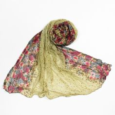 http://www.artfire.com/ext/shop/studio/bohemiantouch/1/1/10311//  Beautiful Floral Champagne Pink Brown Print Soft Touch Fashion Shawl Scarf, scarf is a great addition to your collection of fashion accessories. Perfect for all year round.