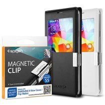 Portable, Spigen Samsung Galaxy S5 / Galaxy Note 3 Flip Cover [Magnetic Clip] Magnetic Holder for Samsung S View Cover / Flip Cover for Samsung Ga //  Description  //   Details  Brand: Portable4All Model: EL-UDON-85887  Features  Made for both Galaxy S5 a