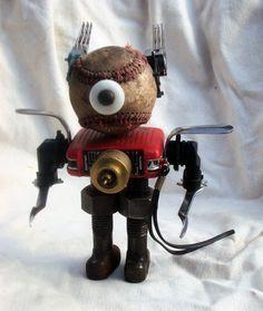 Found Object Radio Robot Sculpture
