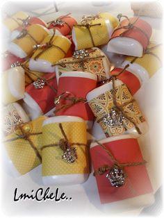 One Dozen Handmade Lemon Watermelon Theme Bling and Rings Bar Soap Wedding Gift Set Party Favor Soap Bridal Shower Soap