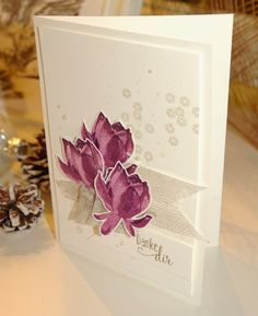 Trendy flowers lotus stampin up 31 ideas – kakkaoo Stampin Up, Karten Diy, Stamping Up Cards, Tampons, Card Making Inspiration, Sympathy Cards, Flower Cards, Creative Cards, Greeting Cards Handmade