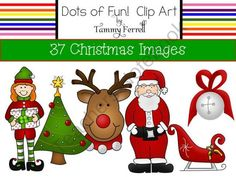 Christmas Set product from Dots-of-Fun-Clip-Art on TeachersNotebook.com