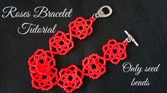 Roses bracelet tutorial (only seed beads
