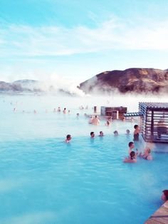 Iceland's Blue Lagoon The geothermal spa is one of the most visited attractions in Iceland. The steamy waters are part of a lava formation. The spa is located in a lava field in Grindavík on the Reykjanes Peninsula, southwestern Iceland.